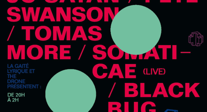 The Drone Birthday Party: Black Bug, JC Satan, Pete Swanson, Somaticae, Tomas More