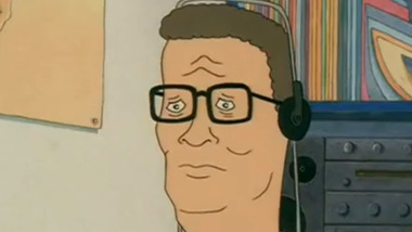 Hank Hill listens to Bish Bosch
