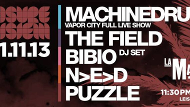 Machinedrum, The Field, Bibio, N>E>D et Puzzle à la Machine Du Moulin Rouge