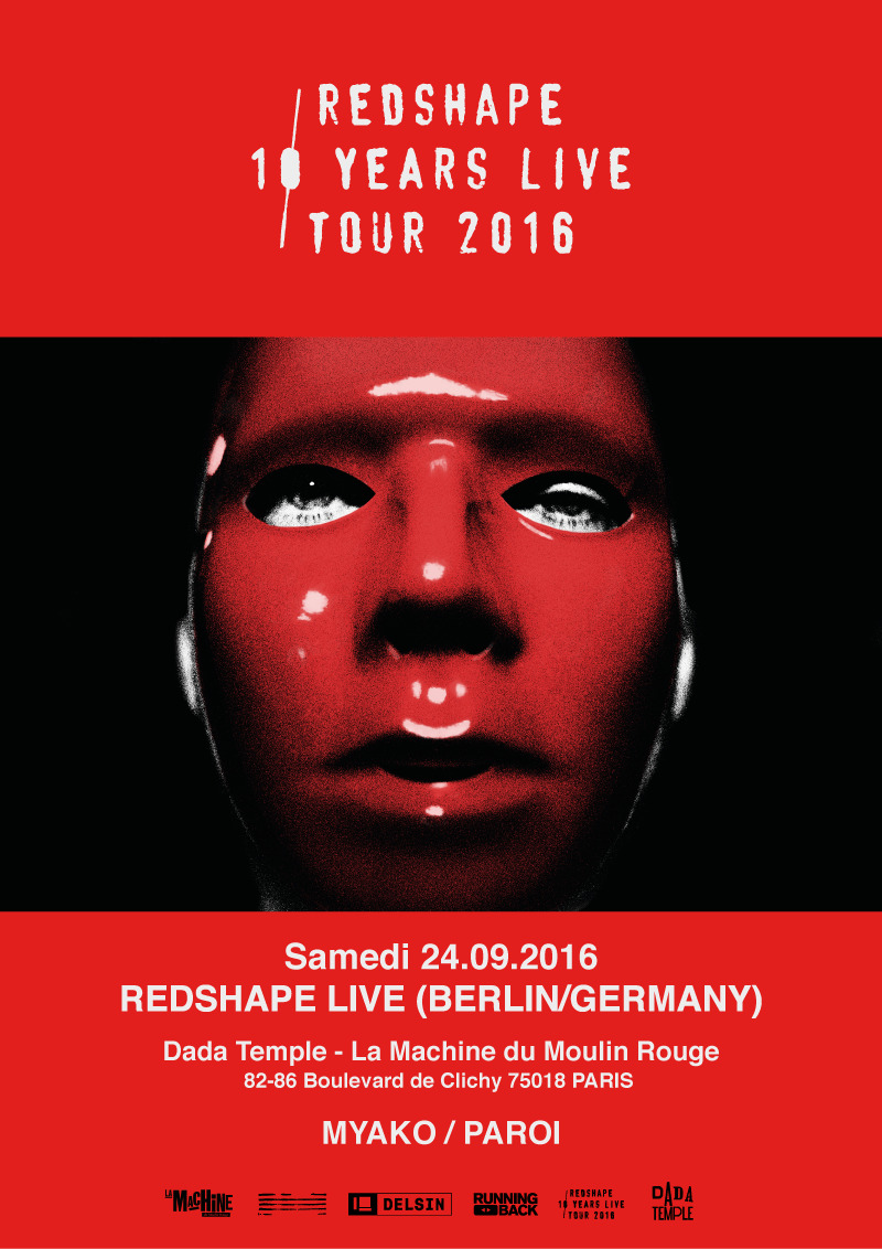 Dada Temple : Redshape 10 Years Live Tour 2016