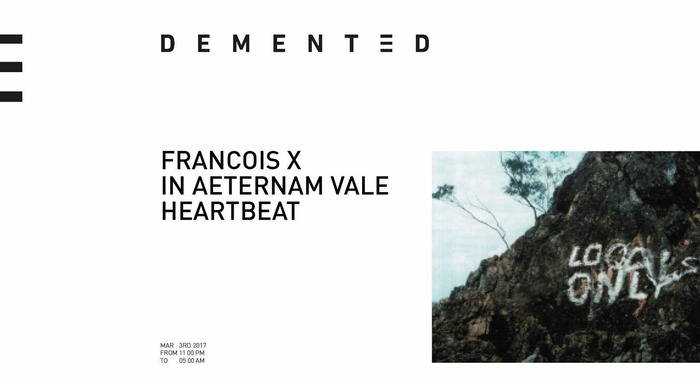 Dement3d Night : Francois X, Heartbeat, IAV au Sucre