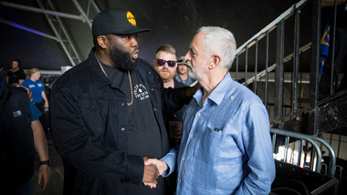 Ce week-end, Jeremy Corbyn a provoqué un record d'affluence à Glastonbury