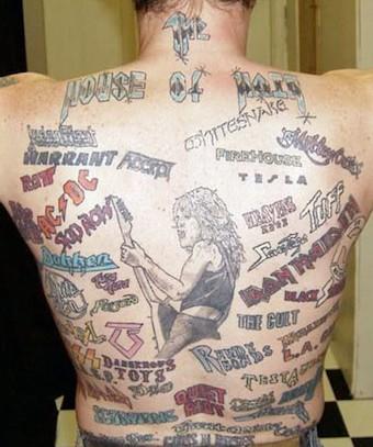 Les 10 Pires Tatouages Inspires Par Des Groupes De Rock
